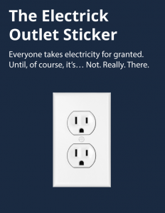 Electrick Outlet sticker graphic
